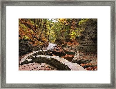 Buttermilk Falls Gorge Framed Print