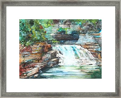 Buttermilk Falls II Framed Print by Patricia Allingham Carlson