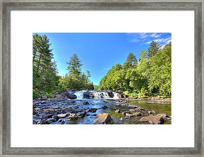 Buttermilk Falls In The Adirondacks Framed Print