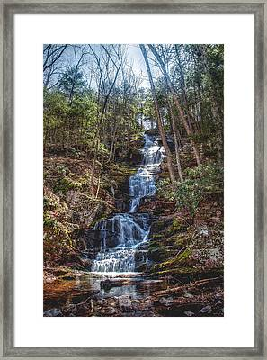 Buttermilk Falls - Natures Beauty Framed Print by Don Edwards