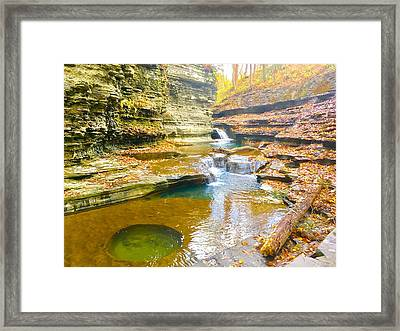 Buttermilk Falls Pathways  Framed Print by Patrick O'Leary