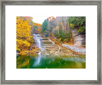 Buttermilk Falls  Framed Print by Patrick O'Leary