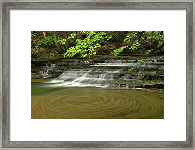 Buttermilk Falls Sp Swirling Water Framed Print by Dean Hueber