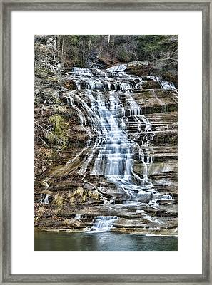 Buttermilk Falls Framed Print by Stephen Stookey