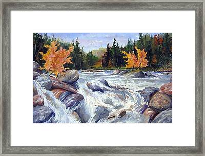 Buttermilk Falls Framed Print by Wilfred McOstrich