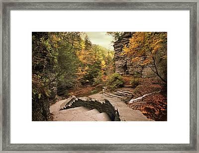 Buttermilk Upper Falls Framed Print