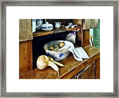 Butternut Squash In Kitchen Framed Print