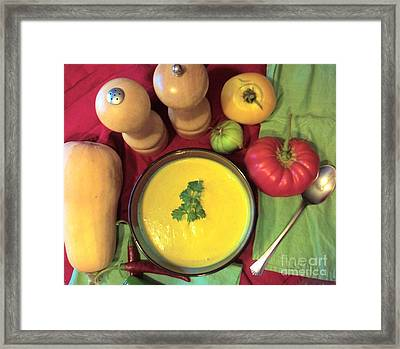 Butternut Squash Soup Delight Framed Print by Josephine Sheppard