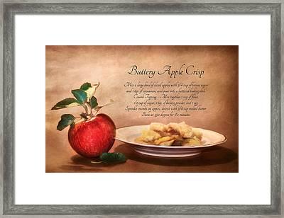 Buttery Apple Crisp Framed Print by Lori Deiter