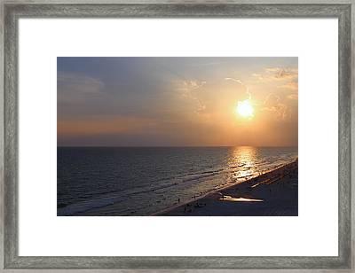 Buttery Sunset Framed Print