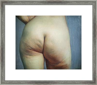 Buttocks And Left Hand On Hip Framed Print