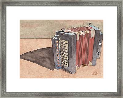 Button Accordion Framed Print