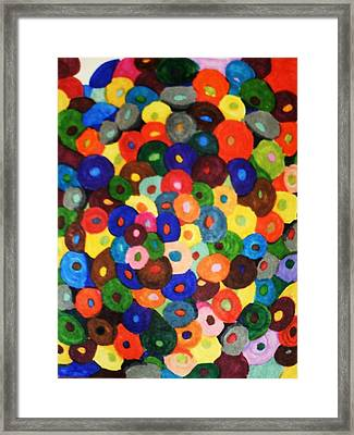 Button Buttons Whose Got The Buttone One Framed Print by Brenda Adams