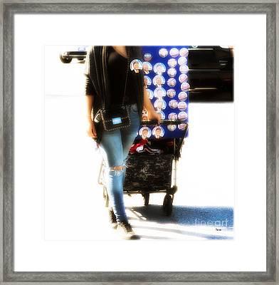 Button Pusher  Framed Print by Steven Digman