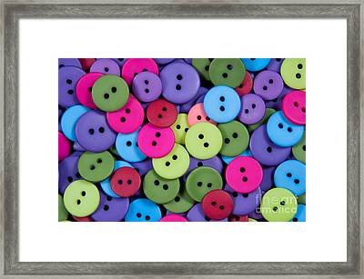 Buttons Framed Print by Dan Holm