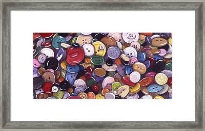 Buttons Framed Print by Victoria Heryet