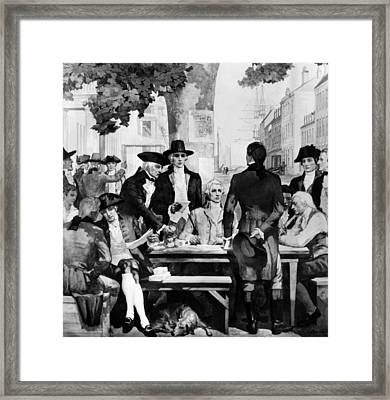 Buttonwood Agreement Founded The New Framed Print by Everett