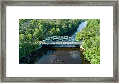 Framed Print featuring the photograph Butts Bridge Summertime by Michael Hughes