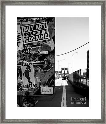 Buy Art Not Cocaine Framed Print