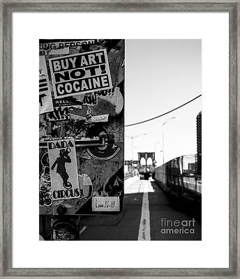 Buy Art Not Cocaine Framed Print by James Aiken