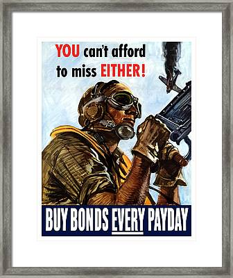 Buy Bonds Every Payday Framed Print by War Is Hell Store