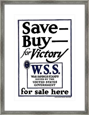 Buy For Victory Framed Print