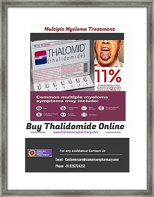 Buy Thalidomide 50 Mg And 100mg Capsule Online Framed Print