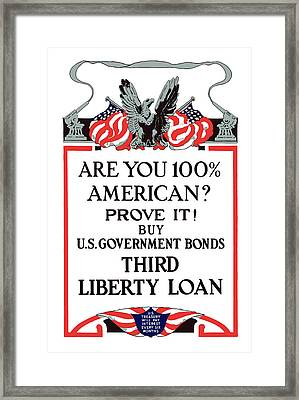 Buy U.s. Government Bonds Framed Print by War Is Hell Store