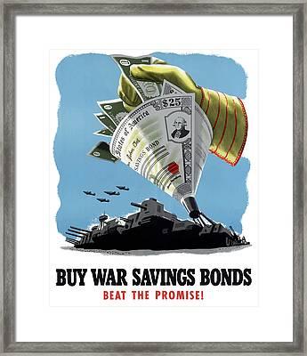 Buy War Savings Bonds Framed Print