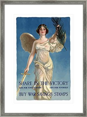 Buy War Savings Stamps Framed Print by War Is Hell Store