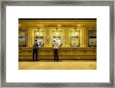 Framed Print featuring the photograph Buying A Ticket by M G Whittingham