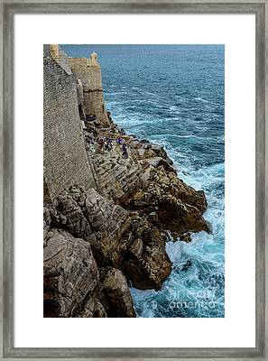 Buza Bar On The Adriatic In Dubrovnik Croatia Framed Print