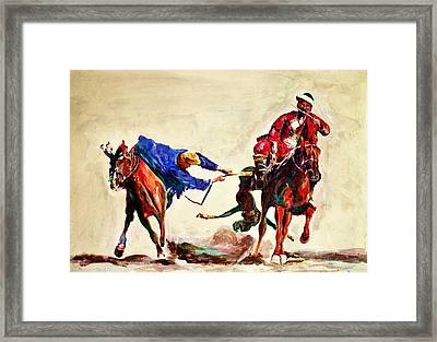 Buzkashi, A Power Game Framed Print
