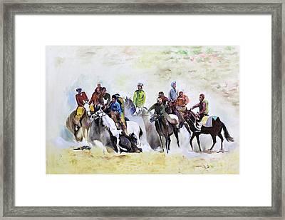 Buzkashi Sport Framed Print