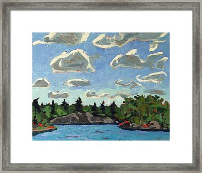 Buzzard Clouds Framed Print
