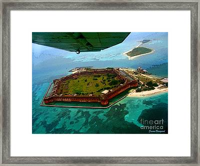 Buzzing The Dry Tortugas Framed Print