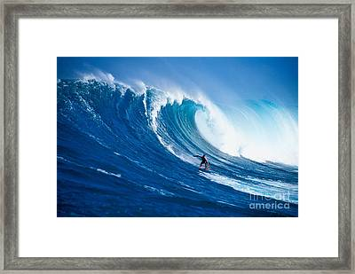 Buzzy Kerbox Surfing Big Framed Print by Erik Aeder - Printscapes
