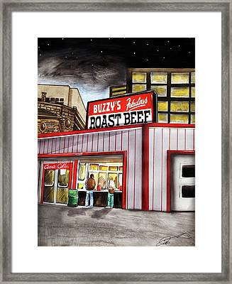 Buzzy's Fabulous Roast Beef Framed Print by Dave Olsen
