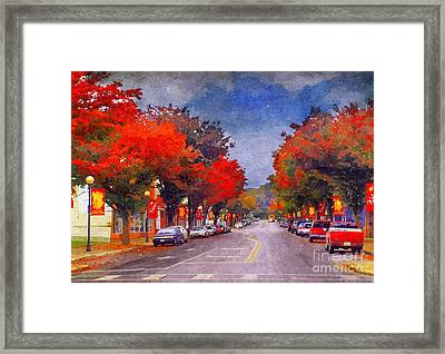 Bv In The Fall Framed Print by Kathy Jennings
