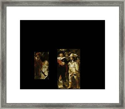 Bw 1 Rembrandt Framed Print by David Bridburg