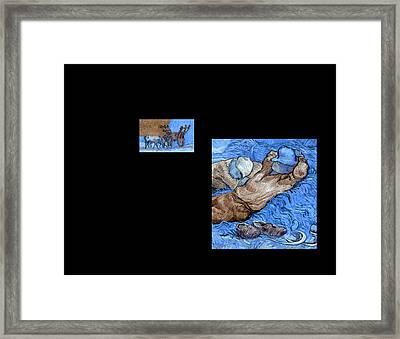 Bw 3 Van Gogh Framed Print