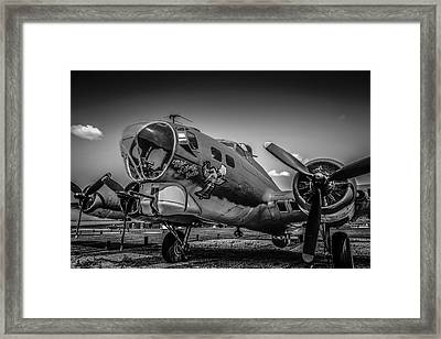 Bw B17 Flying Fortress Framed Print
