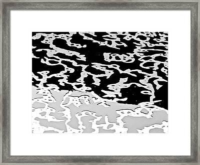Bw Foam Calligraphy Framed Print by Bonnie See