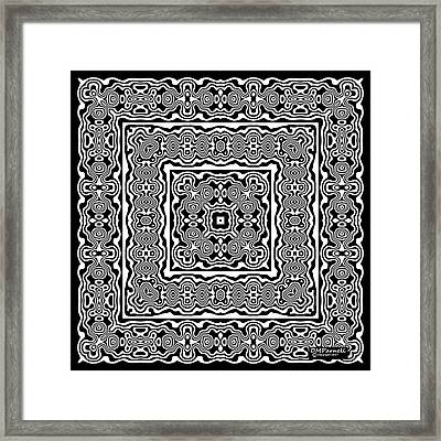 Bw Graphic Square Framed Print