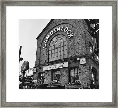 Bw Series Camden Lock Market Framed Print