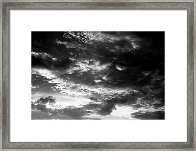 Framed Print featuring the photograph Bw Sky by Eric Christopher Jackson