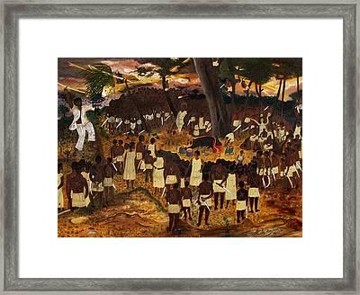 Bwa Kayiman Haiti 1791 Framed Print by Nicole Jean-Louis