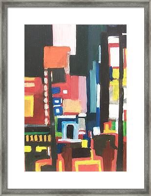 Bway At 46th Framed Print