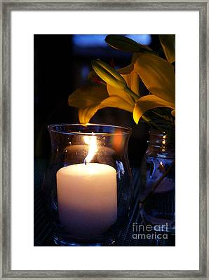 By Candlelight Framed Print by Linda Shafer
