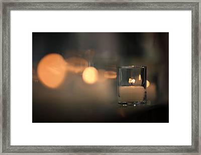 By Candlelight Framed Print by Rick Berk